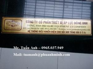 Nhận làm bảng tên, bảng hiệu quảng cáo, bảng số nhà, bảng chữ Alu, nameplate, ăn mòn kim loại…